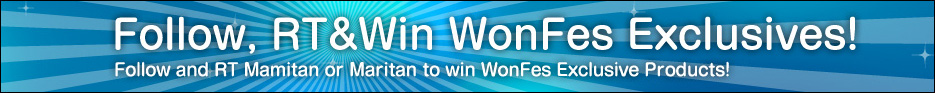 Twitter Campaign: Follow, RT & Win WonFes Exclusives!