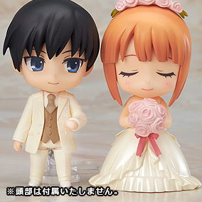 黏土人配件系列 換裝用結婚禮服