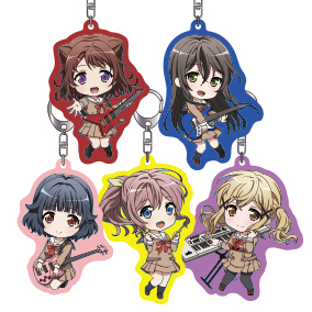 Nendoroid Plus BanG Dream! (BanDori!) Acrylic Keychain Set