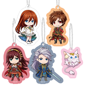 Nendoroid Plus Grand Summoners Acrylic Key Chain Set