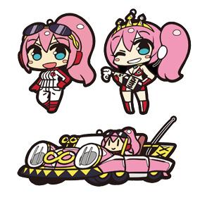ラバーストラップセット 巡音ルカ SUPER GT 応援Ver.