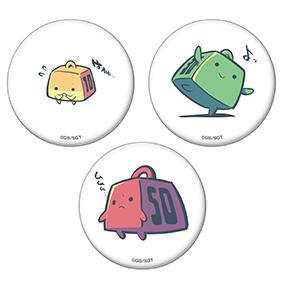 ウェイトちゃん缶バッジセット10kg・30kg・50kgちゃん