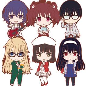 Saekano: How to Raise a Boring Girlfriend♭Nendoroid Plus Collectible Rubber Straps