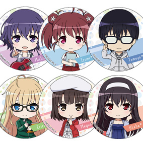 Saekano: How to Raise a Boring Girlfriend♭ Nendoroid Plus Collectible Badges