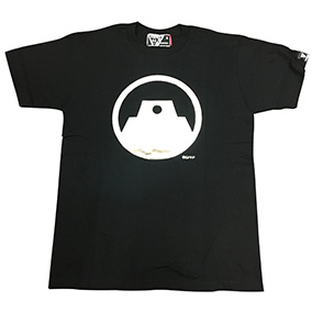 Tシャツ ガールズ&パンツァー 戦車道連盟 ブラック×シルバー S/M/L/XL